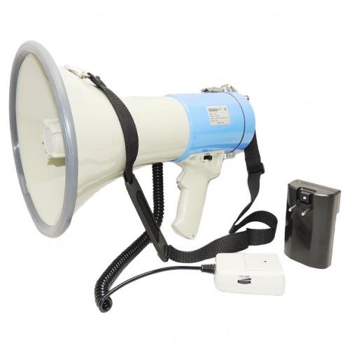 Ручной мегафон РМ-25С с аккумулятором, речь, сирена и свисток