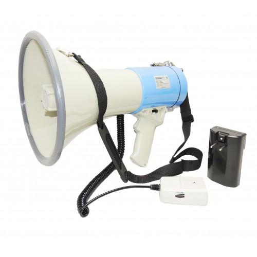 Электромегафон РМ25С с аккумулятором, речь и сирена