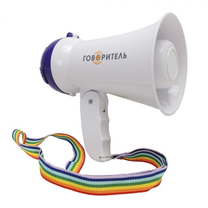 Электромегафон PM-5C3 речь запись сирена мощность 5 Ватт