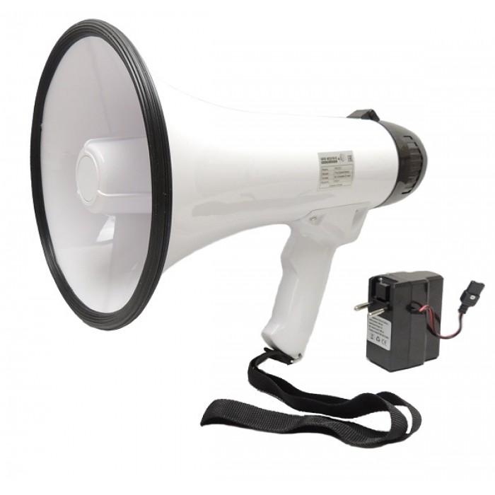 Купить Матюгальник ручной РМ-20СЗ с записью сообщений до 120 секунд и аккумулятором в Интернет-магазине Кладок.ру