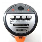 Ручной мегафон РМ-10СЗ оранжевый с аккумулятором