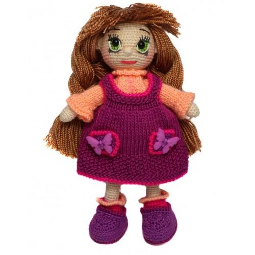 """Вязанная кукла ручной работы """"Машенька"""""""
